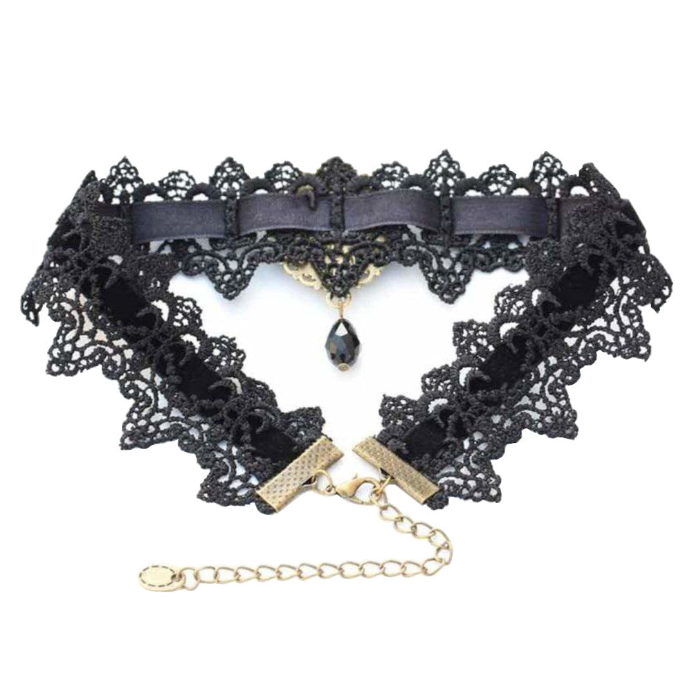 Innocent Lolita Jeweled Lace Collar