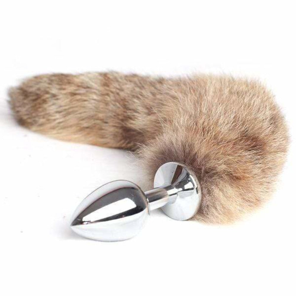 "10"" Faux Raccoon Tail with 3 Butt Plug Sizes"