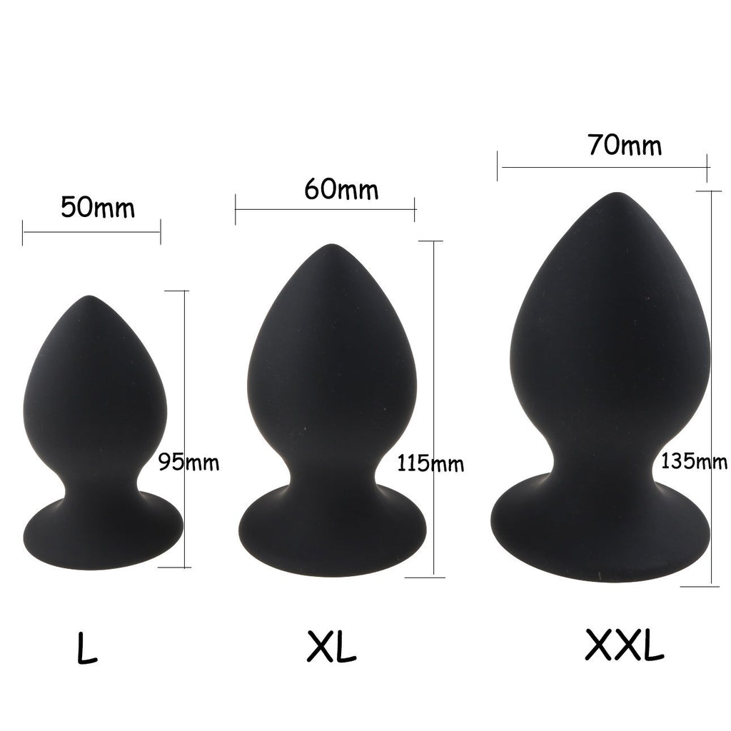 Super Large Pink or Black Silicone plug