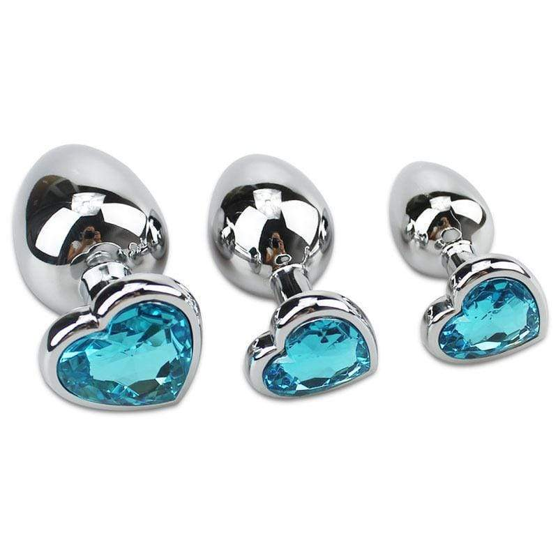 Jeweled Princess Plug 3pc Set
