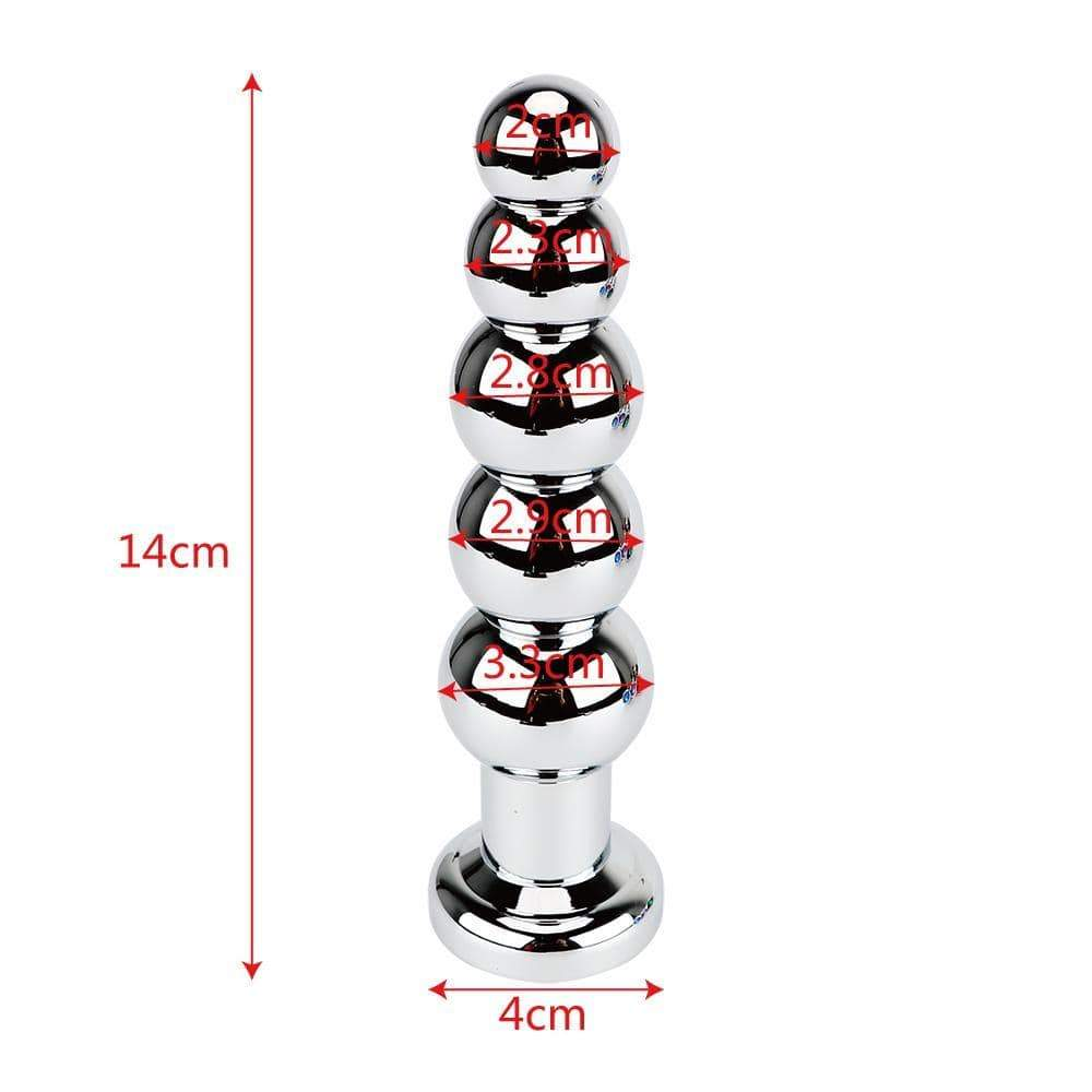 Multi Color Jewel-plated with 5 balls Stainless steel plug