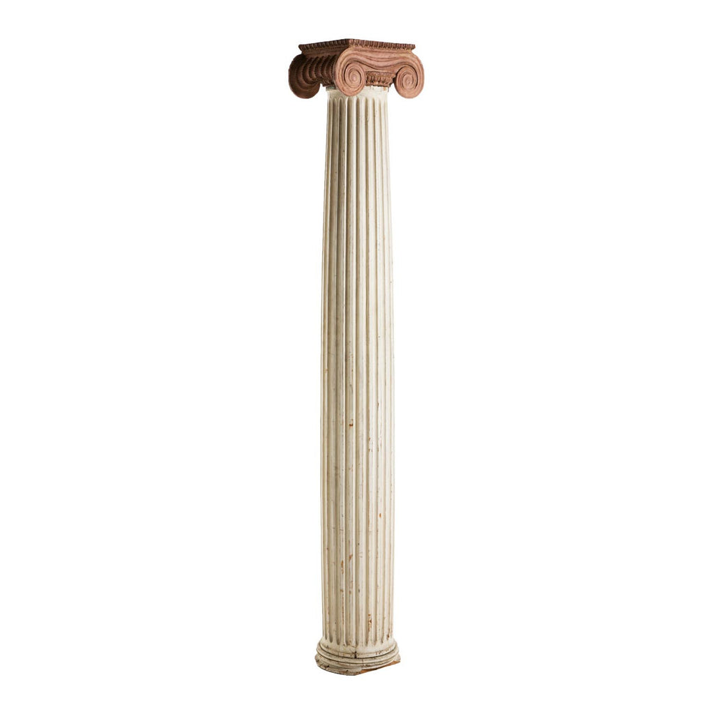 Large Antique Column With Terra Cotta Capital circa 1880
