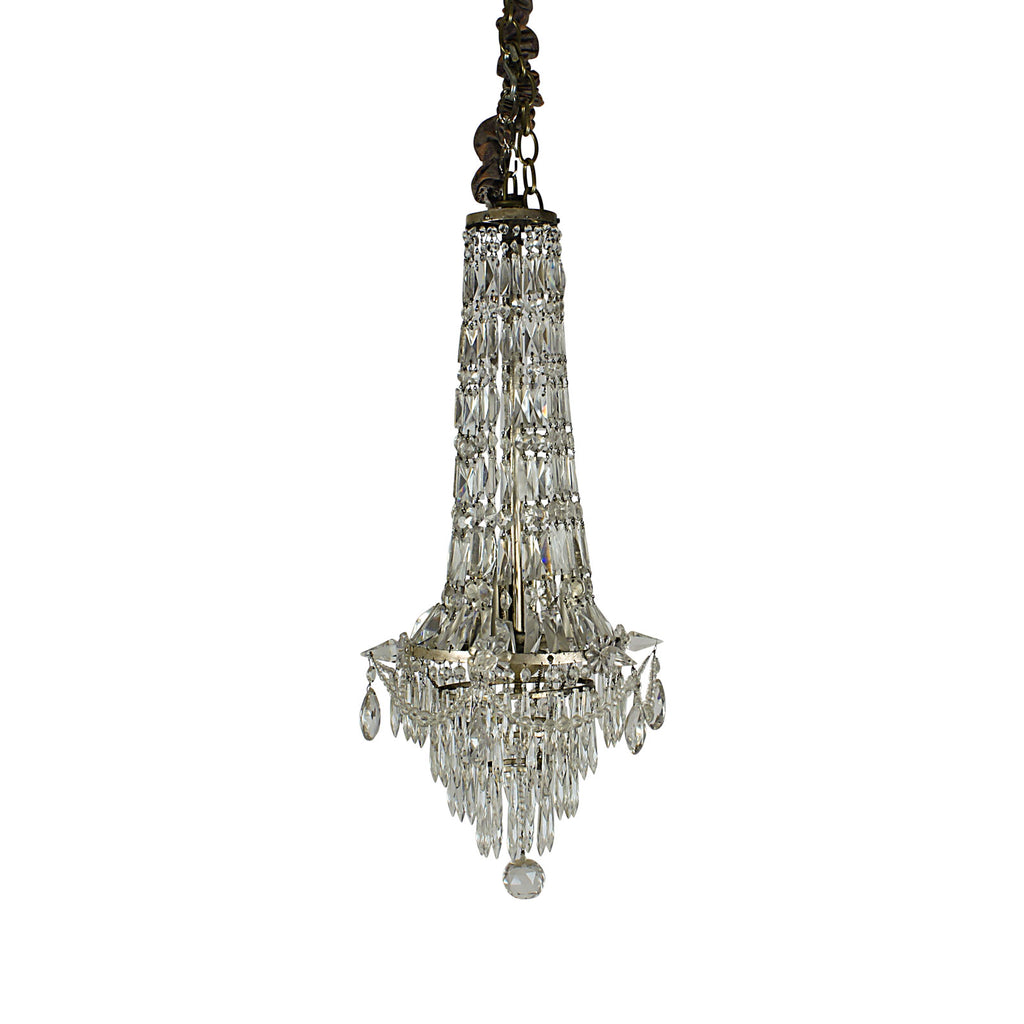 A Belle Epoque Cut Crystal Pendant France circa 1900