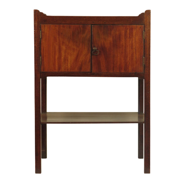 Georgian English Mahogany Night Stand circa 1860.