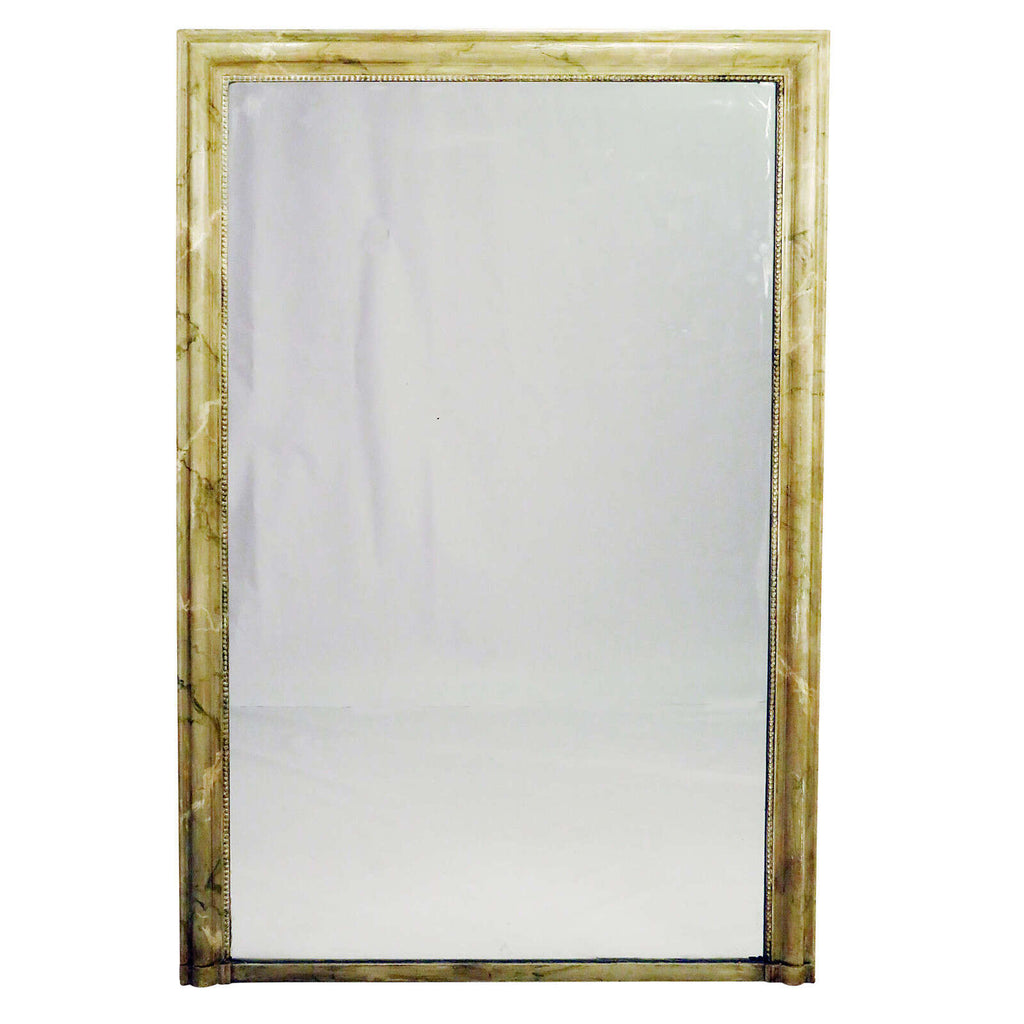 Faux Marble Painted Louis Philippe Mirror circa 1840