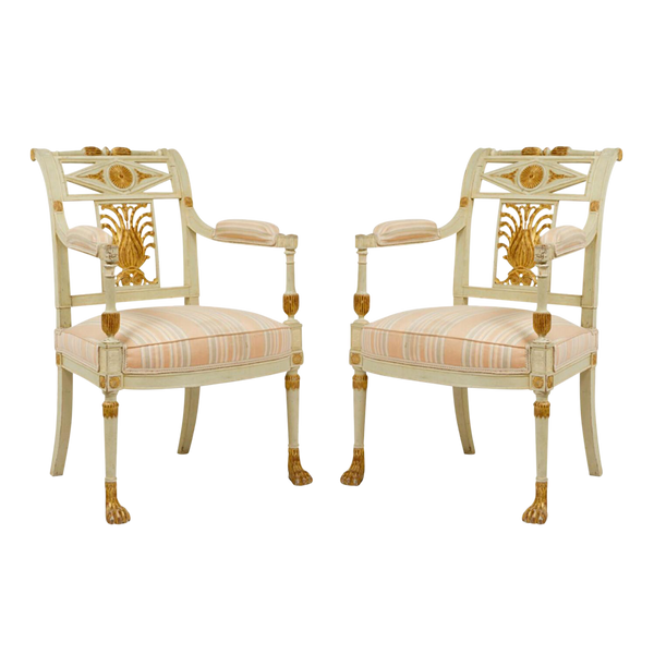 Neoclassical Louis XVI Georges Jacob Chairs - a Pair, France Circa 18th Century