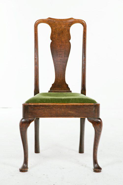 18th Century Queen Anne Oak Chairs - A Pair