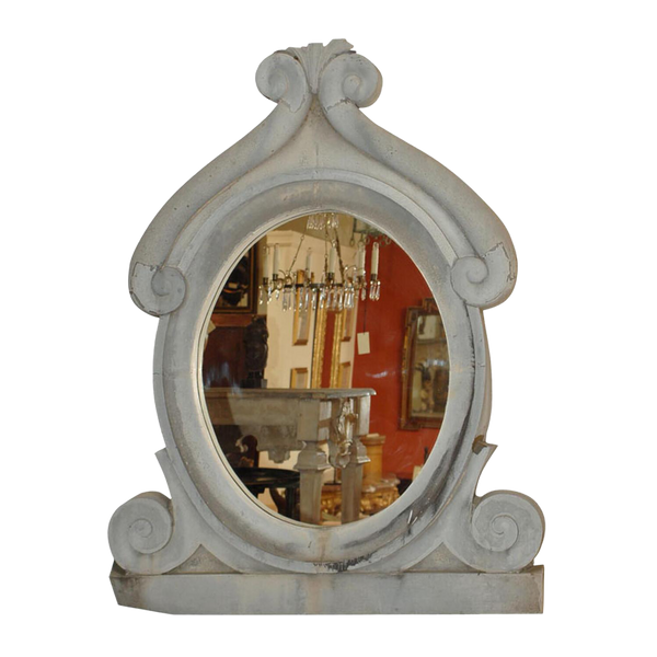 Gray Zinc Wall Mirror, France Circa 19th Century