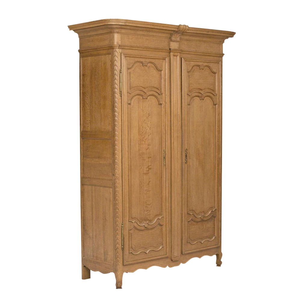 19th Century Louis XVI French Oak / Elm Armoire