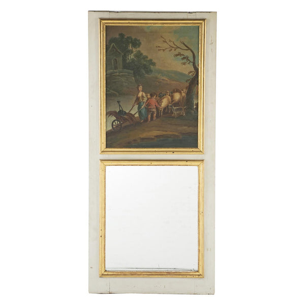 Gilt Trumeau Mirror with Painting, France Circa 1820