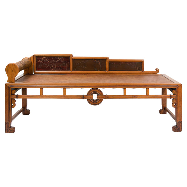 Chinese Elm Opium Bed circa 1880