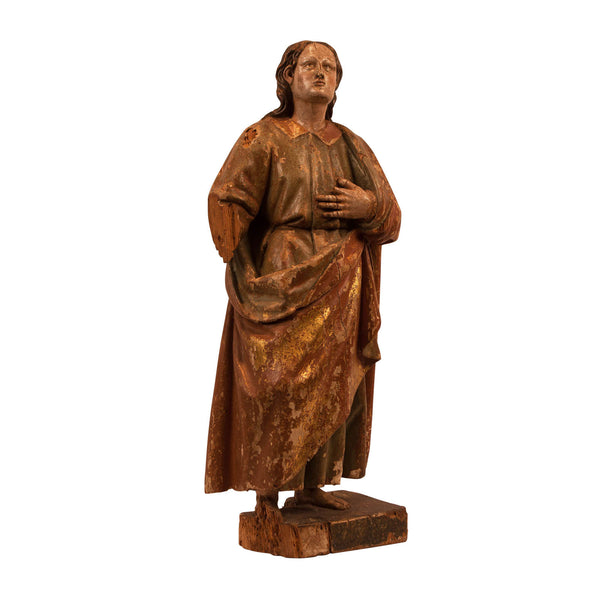 Large Carved Wood Spanish Colonial Saint Joseph, Circa 1700