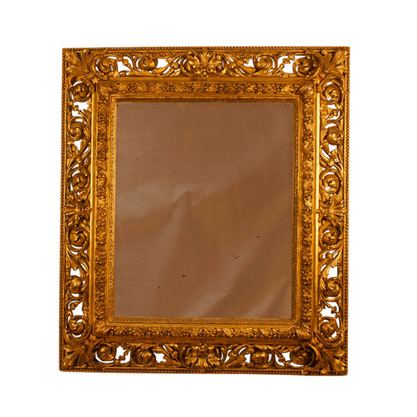 19th Century Italian Gilt Wood Mirror, Circa 1860