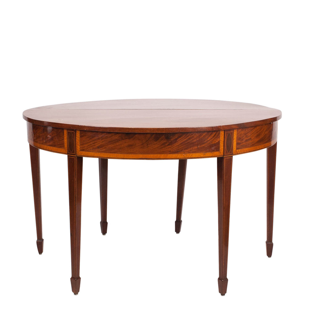 Georgian English Mahogany Demi Lune Table