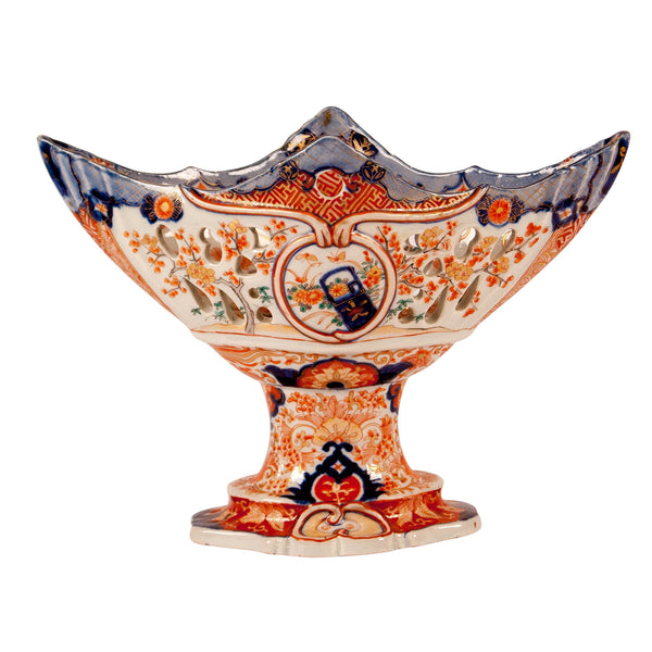 Orange & Blue Imari Fruit Basket, Japan Circa 1860