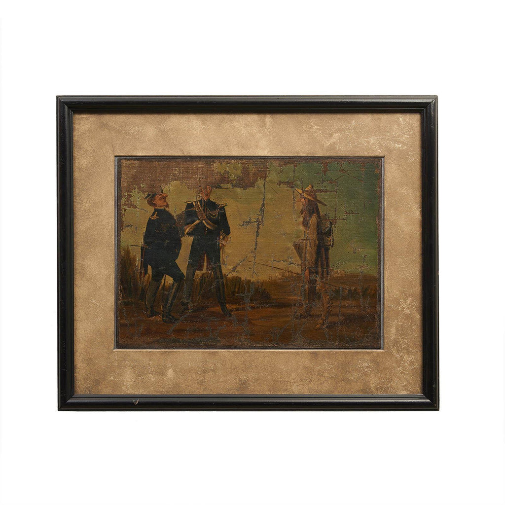 Naive Oil Painting of Don Quixote