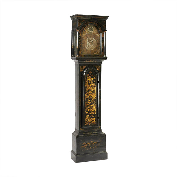 English Chinoiserie Long Case Clock