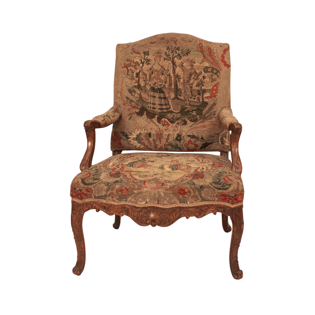 Regence Large Provincial Armchair, France circa 1720