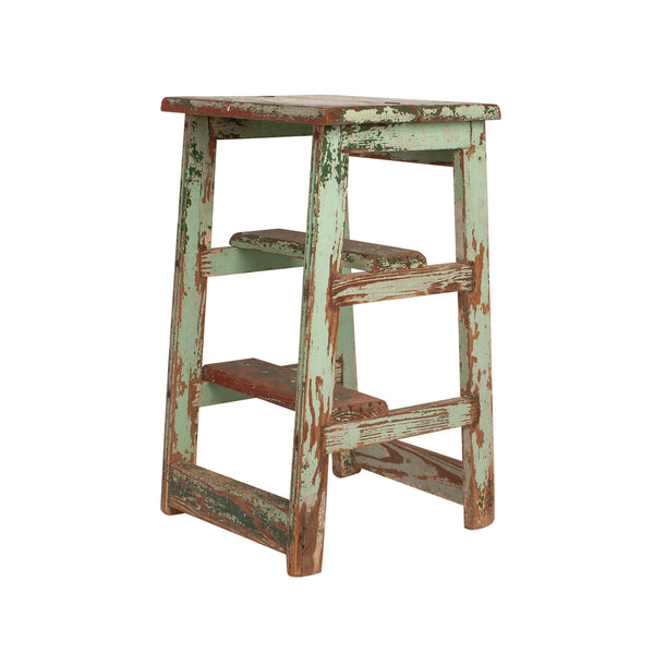 Painted Stool - Ladder, Mexico Circa 1900