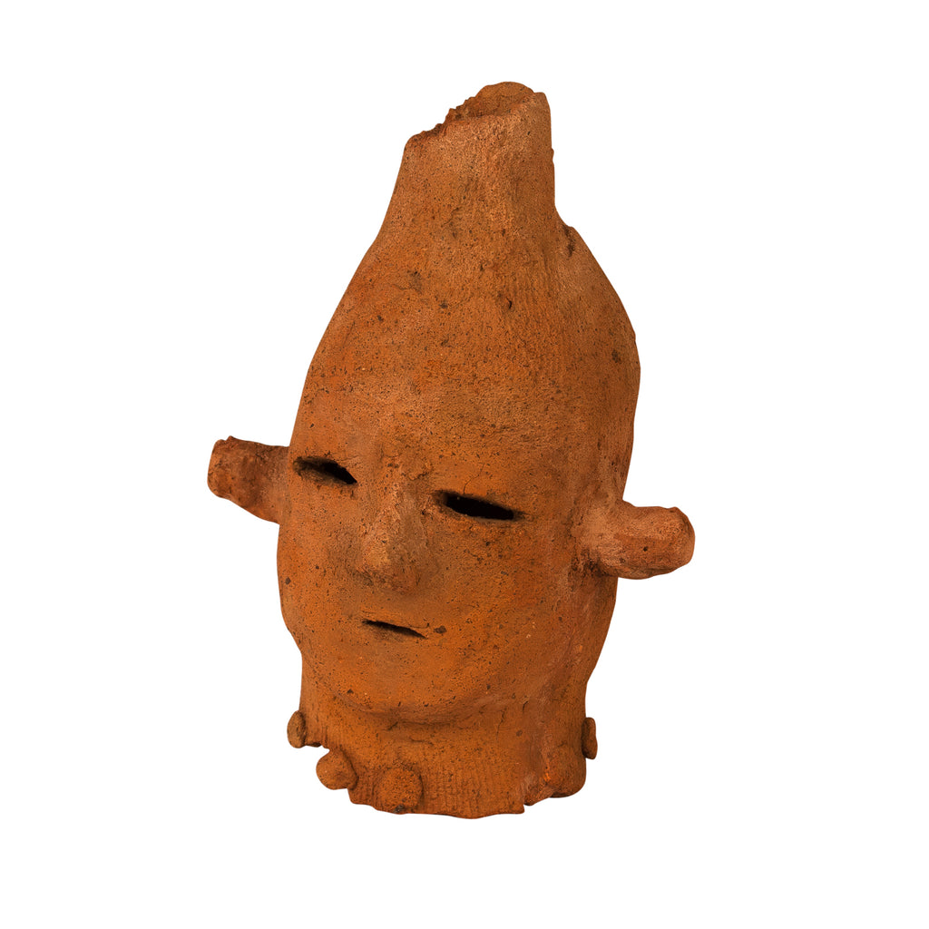 Ancient Haniwa Terra Cotta Head, Japan circa 300 AD
