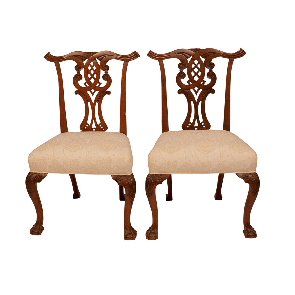 Pair of Chippendale Side Chairs, England circa 1780