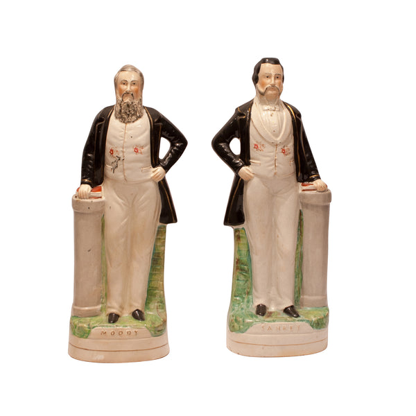 Pair of Staffordshire Figures, Moody and Sankey, England Circa 1860