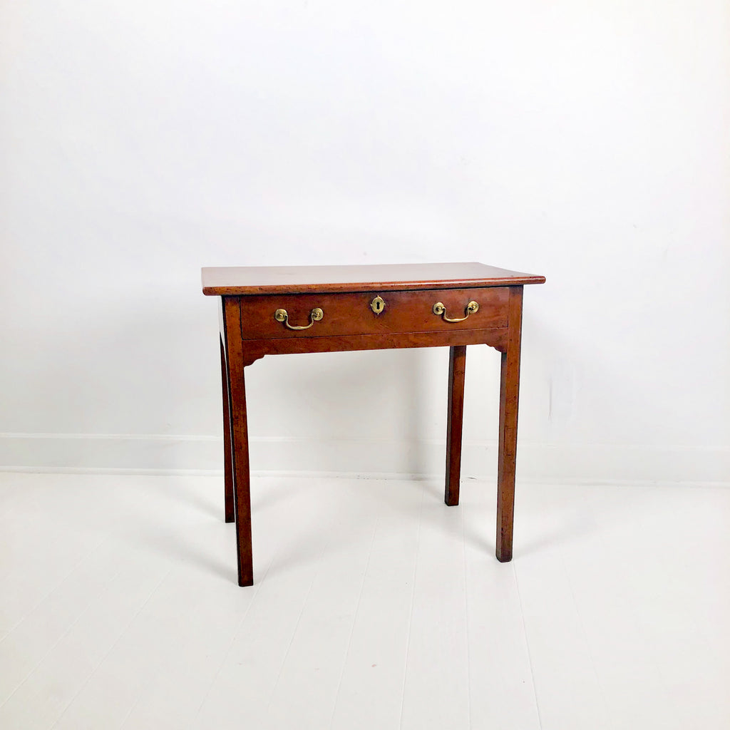 Chippendale Mahogany One Drawer Table, England circa 1780