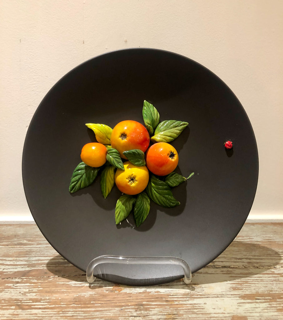 Trompe l'Oeil Plate with Apples