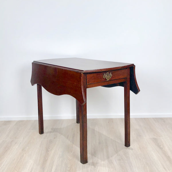 Serpentine Pembroke Table, England circa 1780