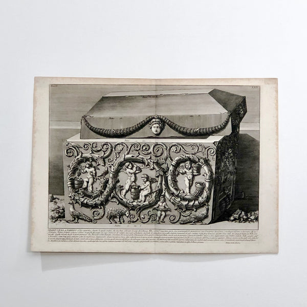 "Piranesi Engraving ""Grand Urna de Porfio"""