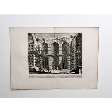 "Piranesi Engraving of ""Crypt of Free Men"", Italy circa 1760"