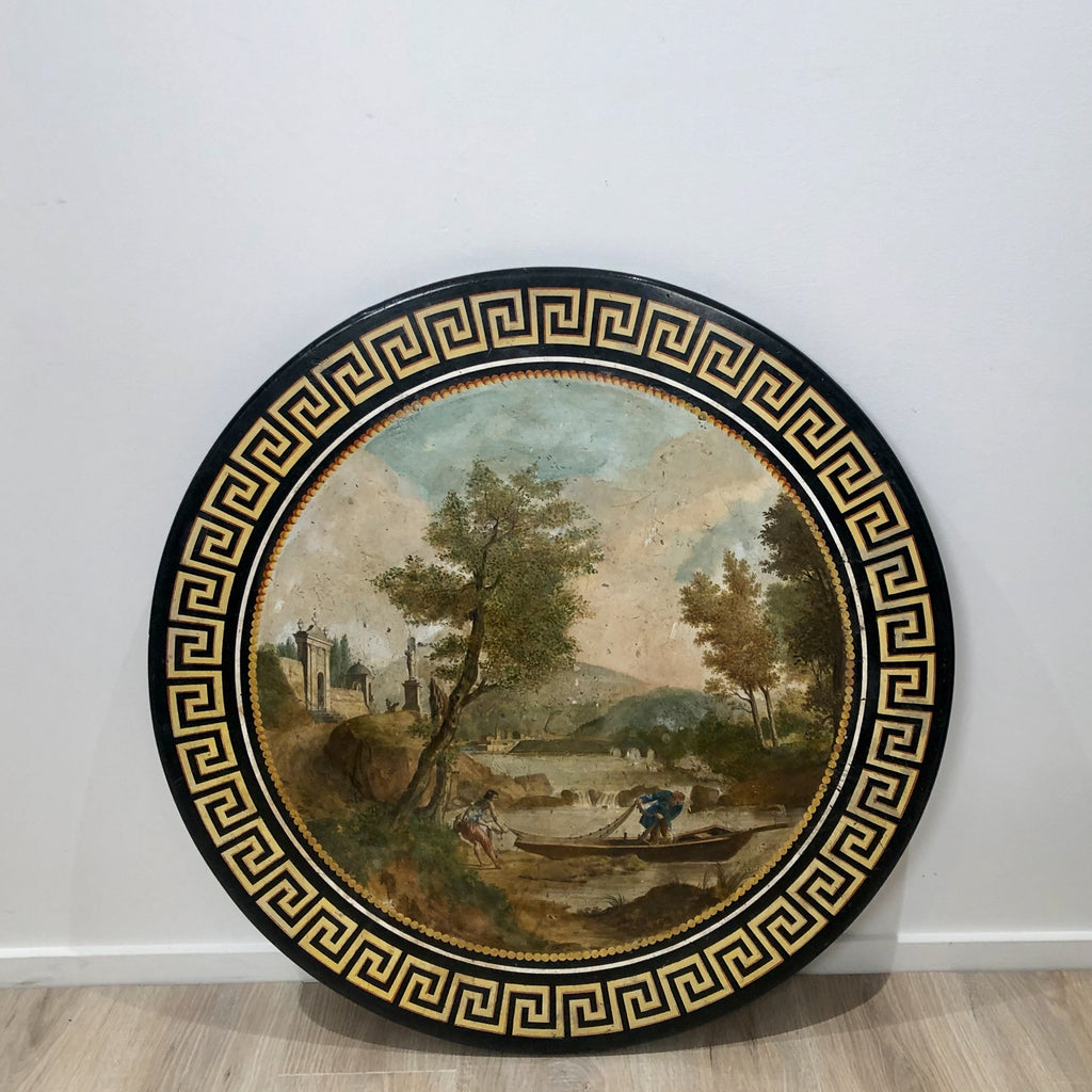 Scagliola Scenic Table, Italy early 19th Century