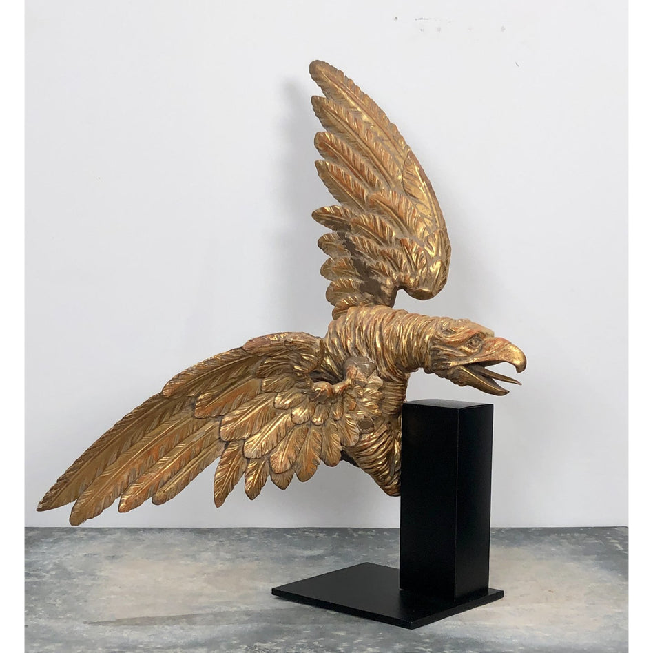 19th Century Continental Carved Gilt Wood Eagle Baldachin
