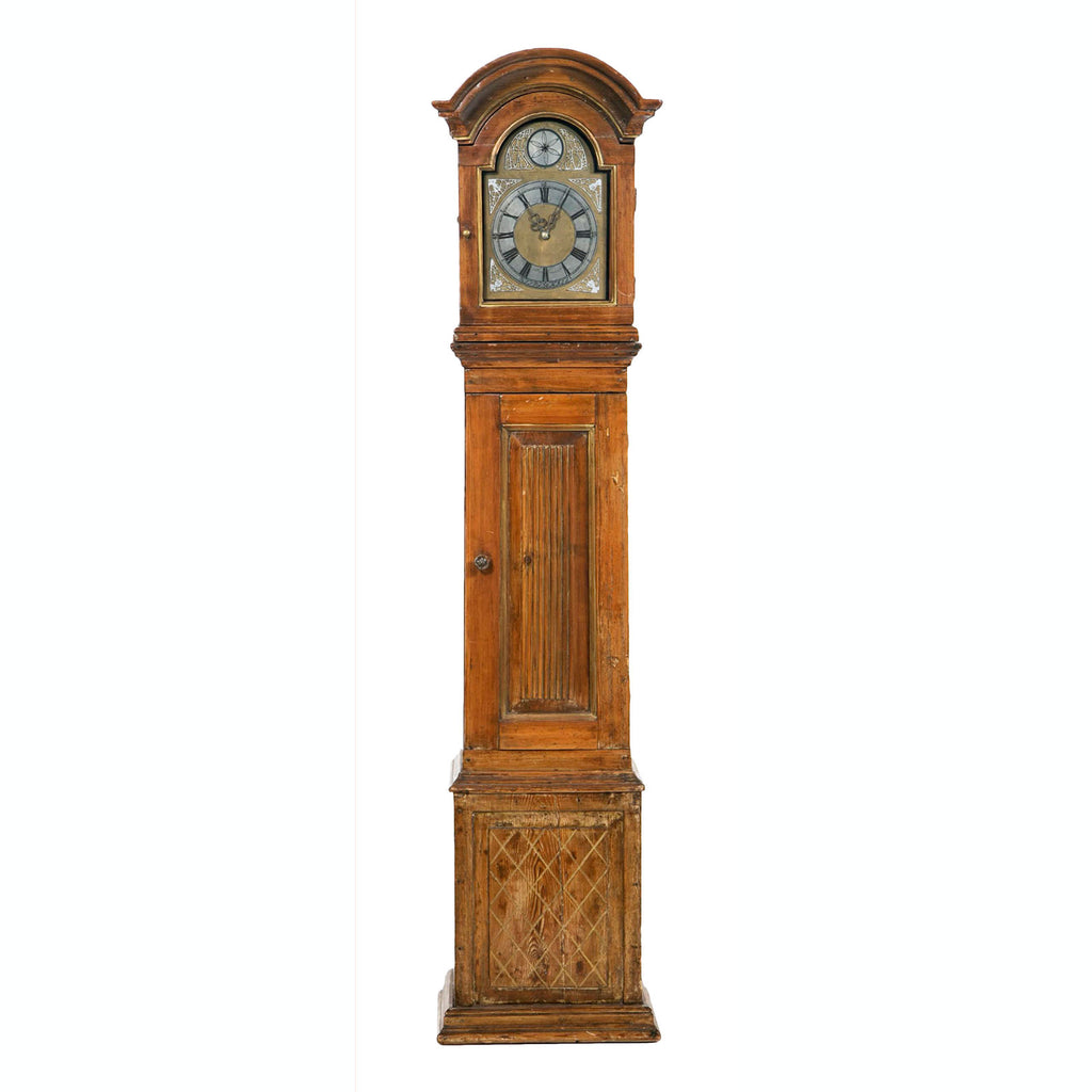 Early 19th Century Pine Long Case Clock
