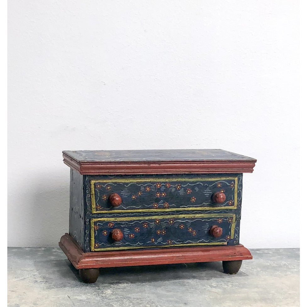 Miniature Painted chest of drawers, Austria early 19th Century
