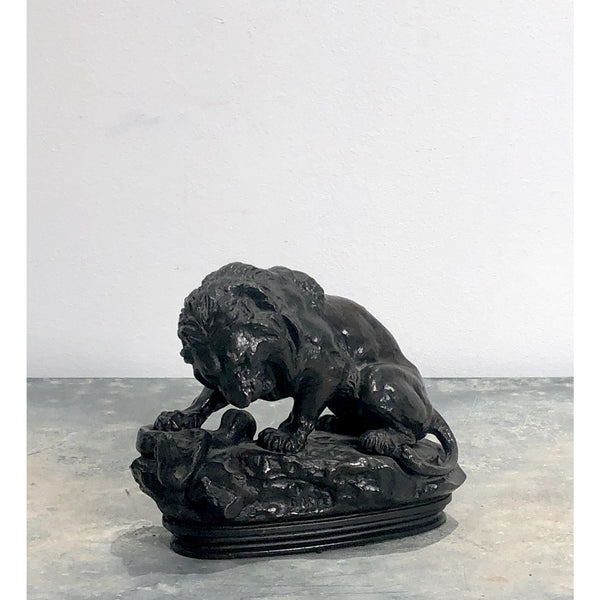 """Lion and the Serpent"" Bronze after Barye, France 19th Century"