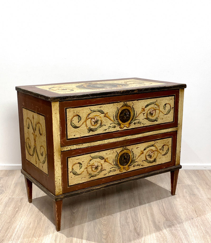 Neoclassical Painted Commode, Italy Circa 19th Century