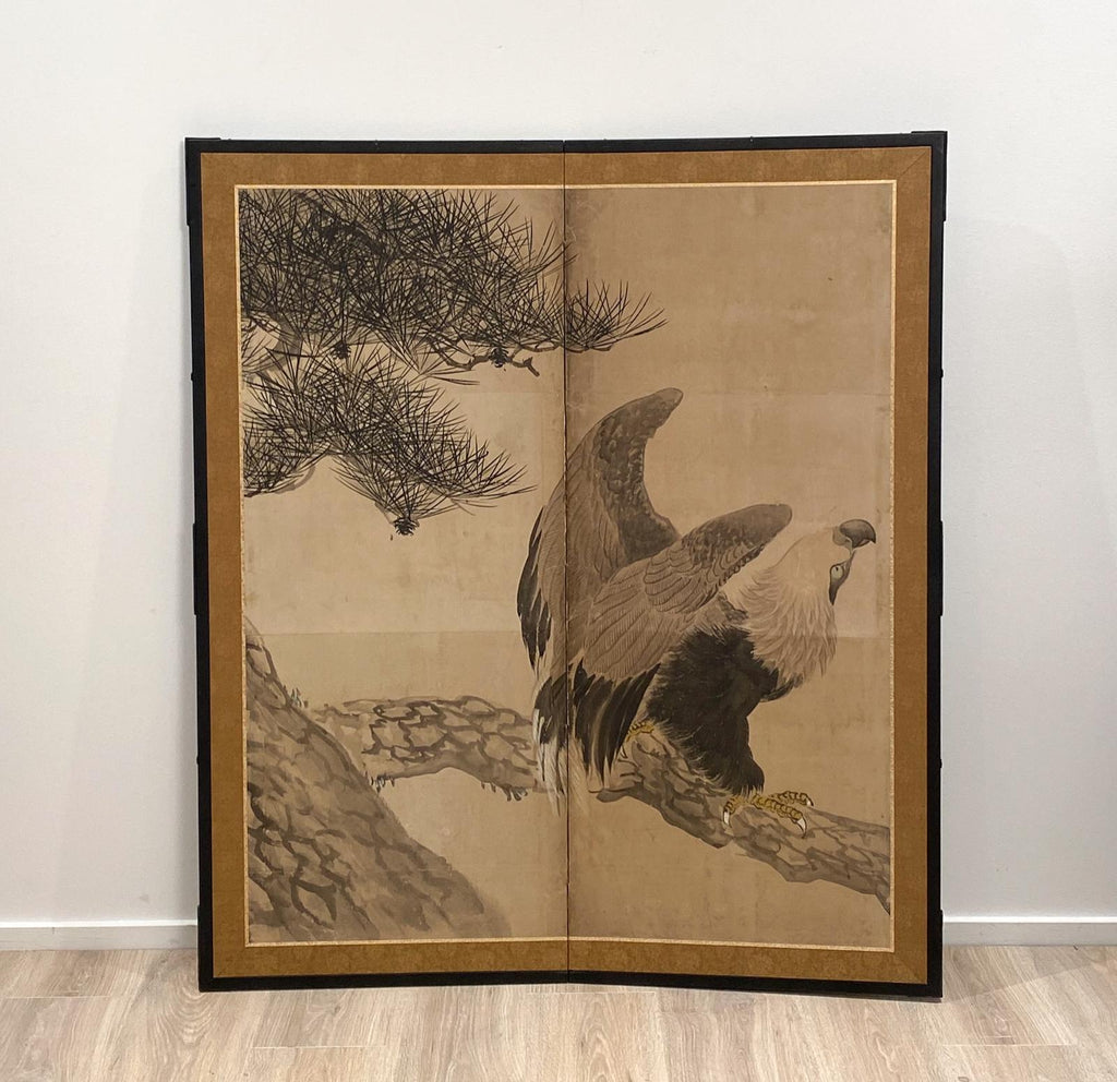 Meiji Period Screen, Japan Circa 19th Century