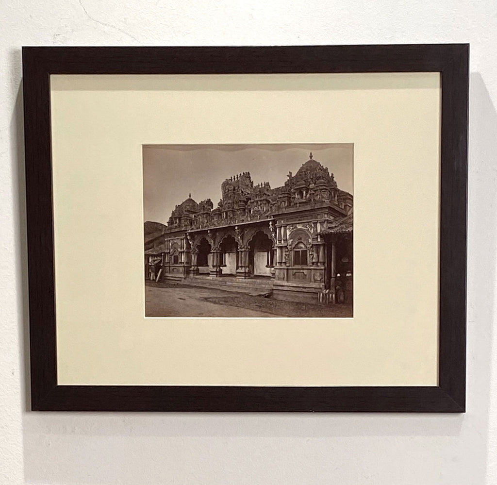 Antique Photograph of a Hindu Temple