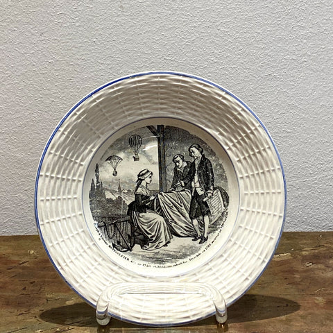 Digion et Sarreguemines French Plate