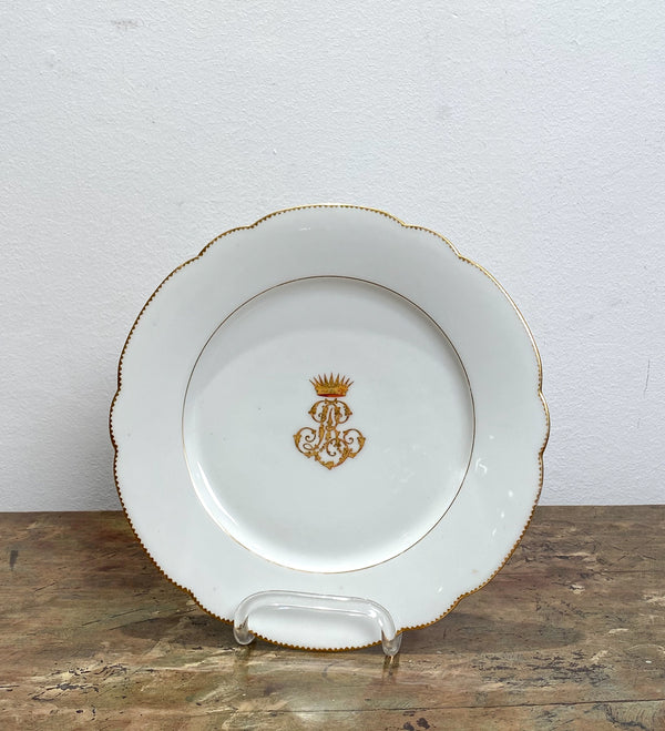French Porcelain Plate