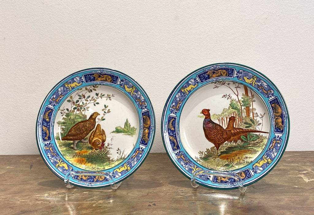 Pair of Wedgwood Bird Plates, England Circa 19th Century