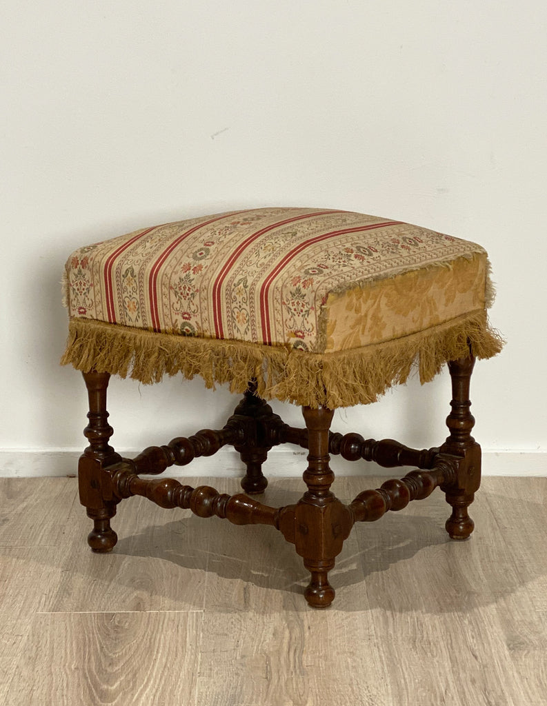 Baroque Walnut Stool, Circa 17th Century