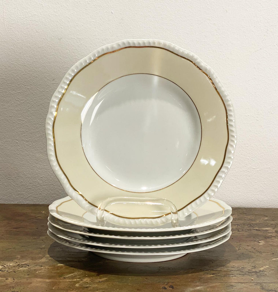 Set of 5 Limoges Dinner Plates, France Circa 20th Century
