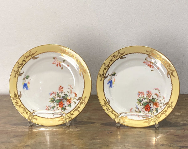 Pair of French Porcelian Plates, Circa 19th Century