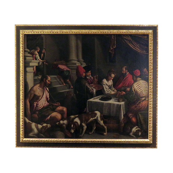 "16th/17th Century Bassano Studio ""Saint Rocco at a Feast"" Painting"