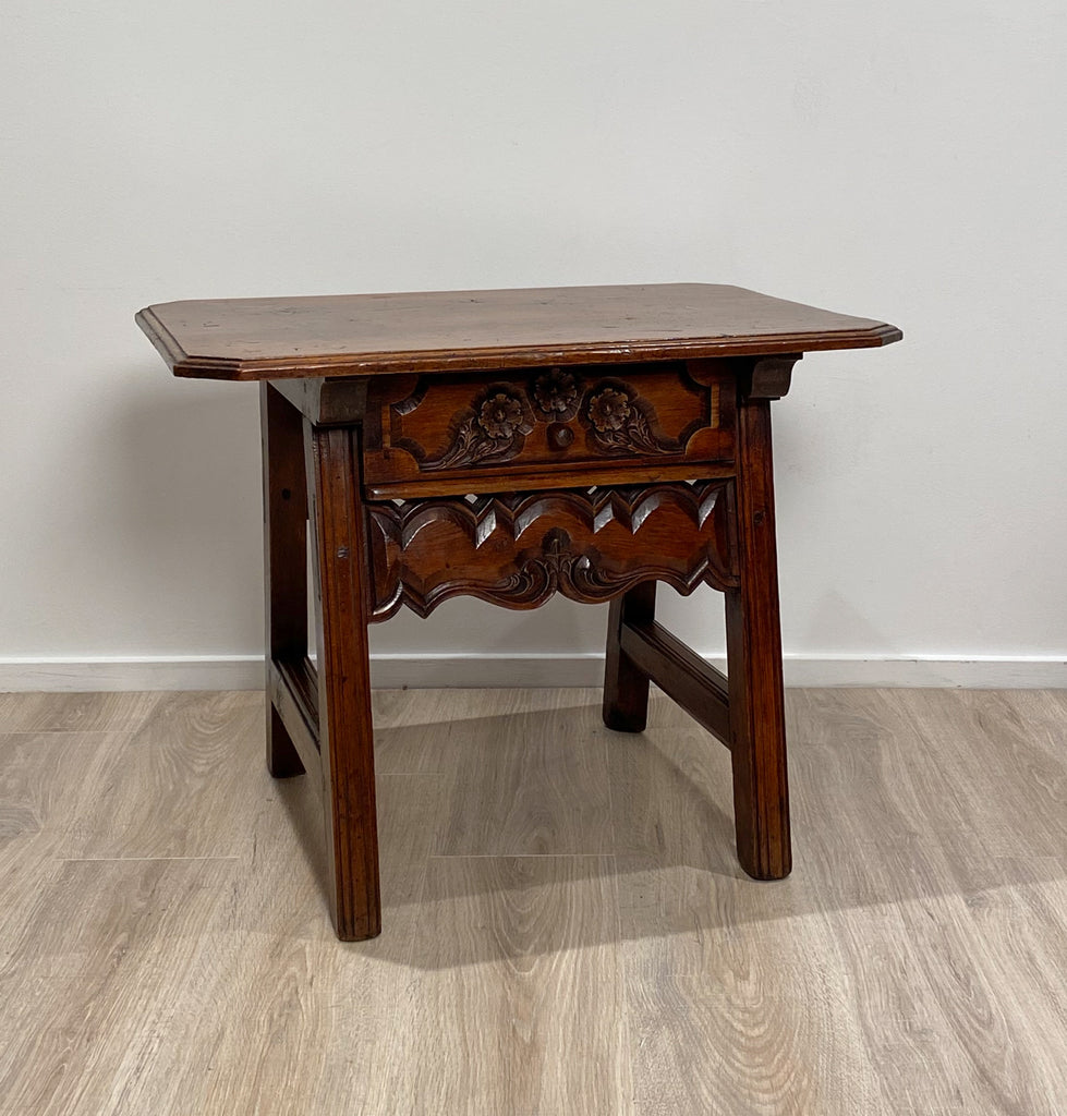 Spanish One Drawer Table, Circa 1840