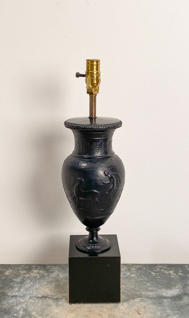 Circa 1880 Patinated Zinc Urn Lamp, England