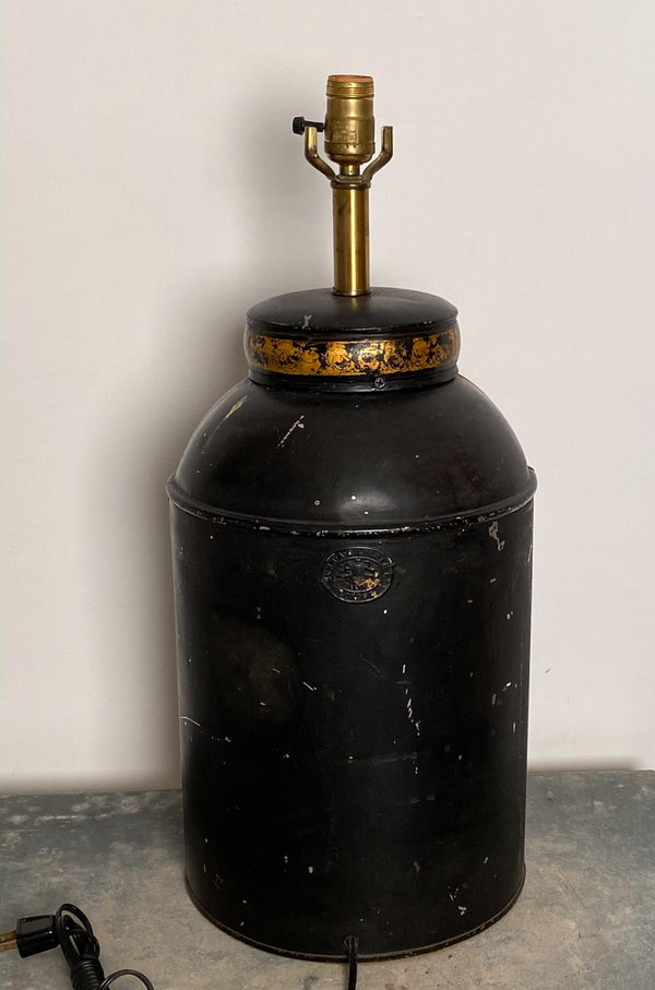 Antique Tea Canister Lamp