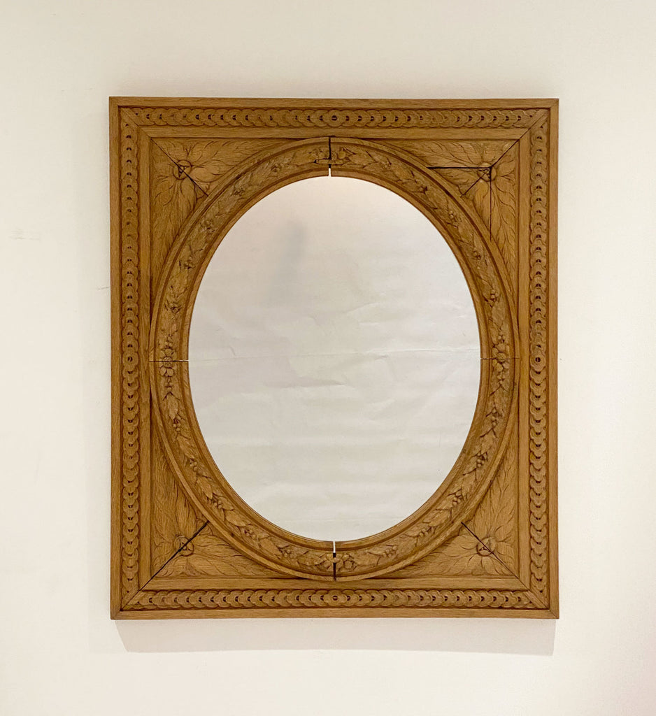 English Neoclassical Oval / Square Mirror Circa 1780